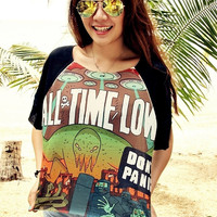 All Time Low T-Shirt Crop Shirt For Women Free Size