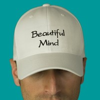 Beautiful Mind Embroidered Cap / Hat from Zazzle.com