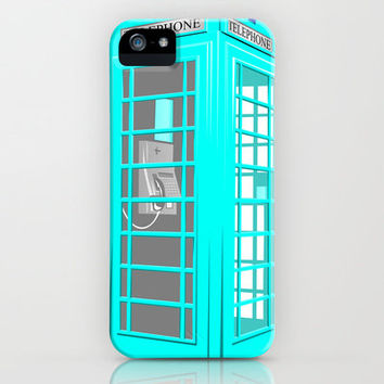 CYAN PHONE BOOTH iPhone Case by Ylenia Pizzetti   Society6