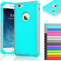 "Rugged Rubber Hard Shockproof Cover Case for Apple iPhone 6 4.7"" / 6 Plus 5.5"""