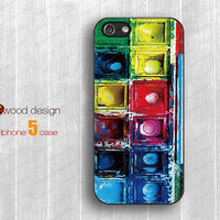 Water color paint set IPhone 5s case IPhone 5c case Iphone 5 cases iphone 4/4s case Rubber case unique silicone cool iphone cases