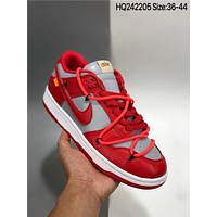 OFF-WHITE x Nike Dunk Low cheap Men's and women's nike shoes