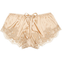 Dolce & Gabbana Lace-trimmed stretch-silk satin shorts – 60% at THE OUTNET.COM