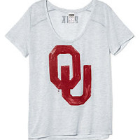 University of Oklahoma Scoopneck Tee - PINK - Victoria's Secret