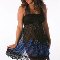 Bluenight elegant babydoll with g string