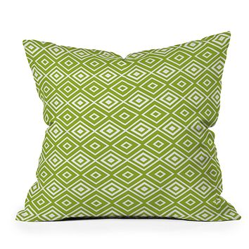 Lisa Argyropoulos Diamonds Are Forever Fern Throw Pillow