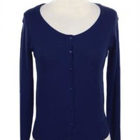 Humble Abode Long Sleeve Cardigan in Navy Blue   Sincerely Sweet Boutique
