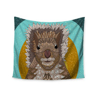 """Art Love Passion """"Squirrel"""" Teal Brown Wall Tapestry"""