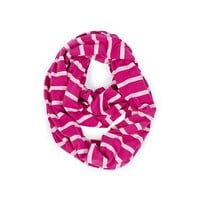 Infinity Breastfeeding Scarf & Cover Pink Peony Stripe