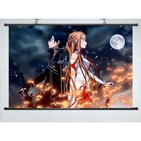 """Coocool® Lifelike Decor Wall Scroll Inspired By Anime Sword Art Online(35""""*24"""")(support Customization)"""