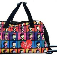 LICENSED LUCY COLORED IMAGES ROLLING DUFFLE