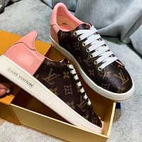 Louis Vuitton LV Popular Women Casual Leather Sneakers Sport Shoes