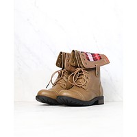 Final Sale - Adjustable Classic Combat Boots in Taupe