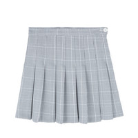 Glen Check Pleated Skirt | MIXXMIX