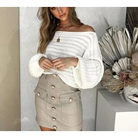 Dreamer Off Shoulder Loose Sweater