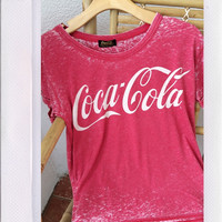 Coca Cola Burnout Tee- Red
