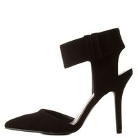 Qupid Cuffed Single Sole Pumps by