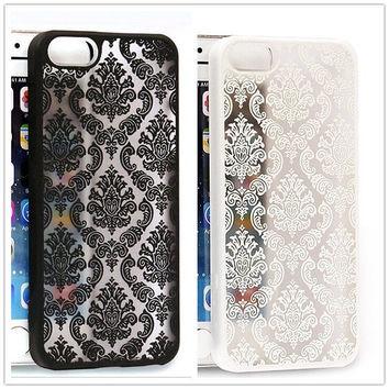 Vintage Flower Pattern Luxury Phone Case Back Cover for Apple IPhone 4 4S 5 5S 6 6 Plus Cases