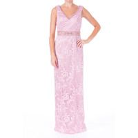Sue Wong Womens Embroidered Prom Semi-Formal Dress