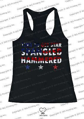 Image of Women's Red White and Blue Tank Tops - Time to get Star Spangled Hammered