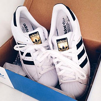 """Adidas"" Superstar Shell-toe Flats Sneakers Sport Shoes"