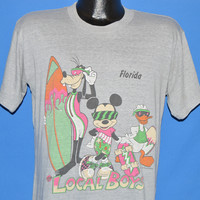 80s Mickey Mouse Goofy Donald Duck Surfing t-shirt Medium