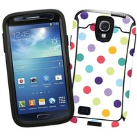 """Polka Dot Explosion on White """"Protective Decal Skin"""" for OtterBox Defender Samsung Galaxy S4 Case"""