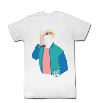Saved By The Bell Zack Morris No Face Adult White T-Shirt
