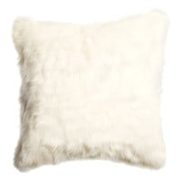 H&M - Faux Fur Cushion Cover - White