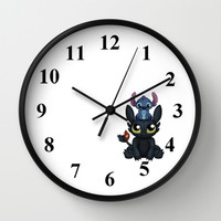 Can I Sit Here Wall Clock by Katie Simpson