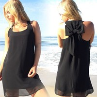 Maternity Women Bow Tank Dress