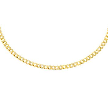 Extra Flat Cuban Chain Necklace