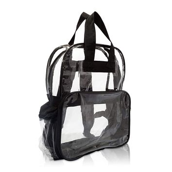 DALIX Clear Backpack with Smooth Plastic Completely Transparent