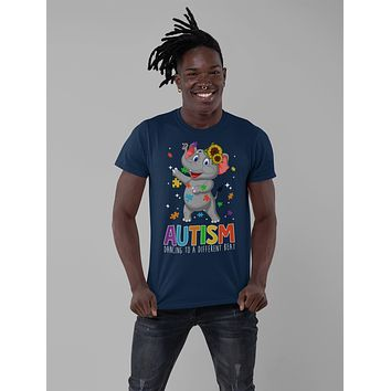 Men's Autism Elephant T Shirt Dancing To Different Beat Autism Shirt Cute Autism T Shirt Autism Awareness Shirt