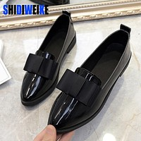 Classic  Shoes Women Casual Pointed Toe Black Oxford Shoes for Women Flats Comfortable Slip on Shoes