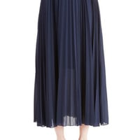 ModCloth Boho, 60s, 70s, Scholastic Long Maxi Of Allure Own Accordion Skirt