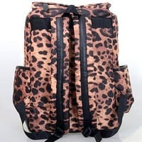 Punk Style Leopard Print Fashion Backpack-nice from styleonline