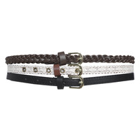 3 On Crochet Braided Skinny Belt | Shop Accessories at Wet Seal