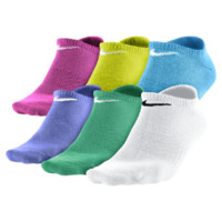 Nike Dri-FIT Cotton No-Show Girls' Socks (Large/6 Pair) (White)