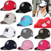 Unisex New York Yankees Cap Snapback Baseball Sport Adjustable NY Summer Sun Hat [FREE SHIPPING]