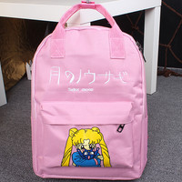 Candy Color Anime Character Sailor Moon Cosplay Lovely Backpack School Student Bag