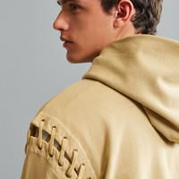 Malone Lace-Up Hoodie Sweatshirt   Urban Outfitters