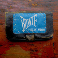 DAVID BOWIE 1983 Backstage Pass black leather wallet