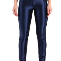 Cadetblue High-Waisted Candy Color Buttoned Pants