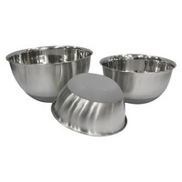 Threshold Stainless Steel Non Skid Mixing Bowl Set of 3