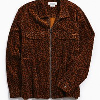 UO Ryder Cheetah Corduroy Zip-Up Shirt | Urban Outfitters