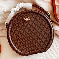 MK New fashion more letter leather shoulder bag crossbody bag handbag Coffee