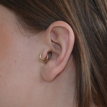 Tragus Ring 7mm Nose Hoop Earring From Brightbdesigns On Etsy