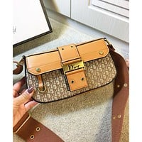 Dior Fashion New More Letter Leather Shoulder Bag Women Crossbody Bag