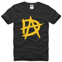 Dean Ambrose DA LOGO Printed T Shirts Men Summer Style Short Sleeve O-Neck Cotton Men's T Shirt Fashion Tee Shirt Homme Cool Tee